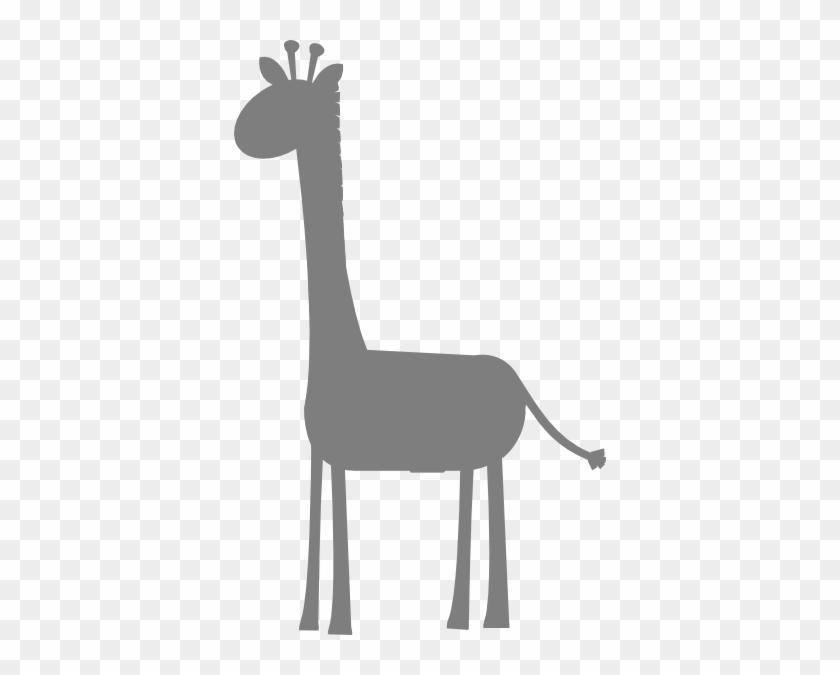 Birthday Girl Giraffes Clip Art - Baby Grey Giraffe Clipart #17807