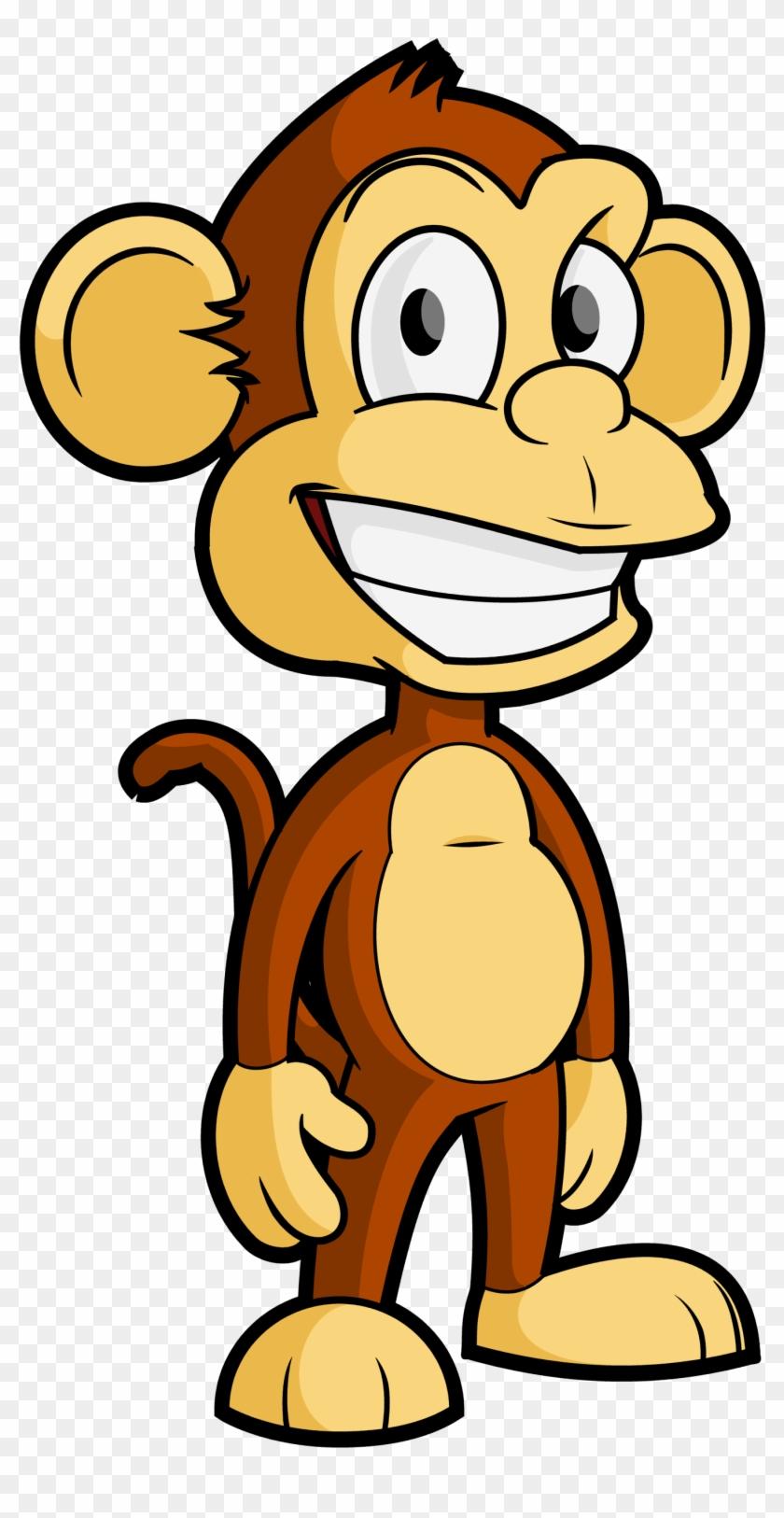Free Cartoon Monkey Vector Clip Art - Monkey Vector Png #17815