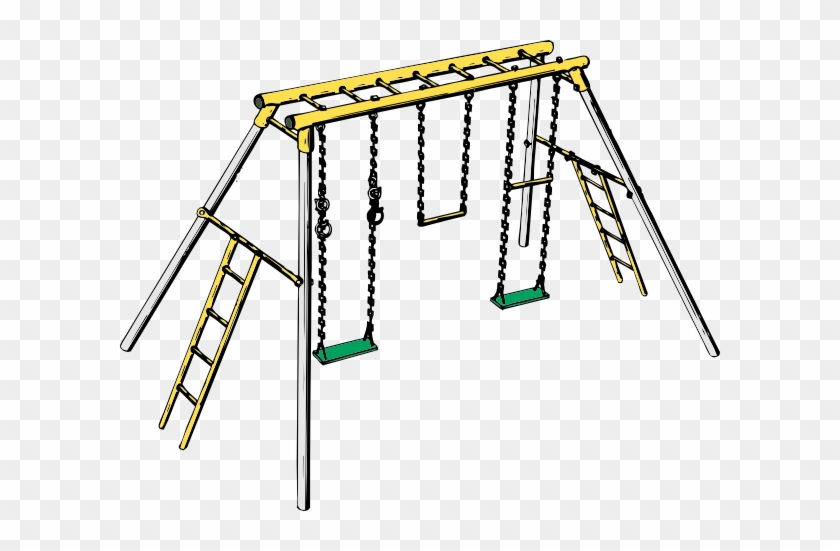 Clipart Info - Swing And Monkey Bars #17828