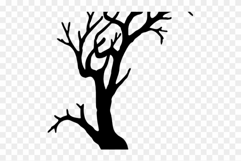 Spooky Tree Clipart - Spooky Tree Silhouette Png #17836