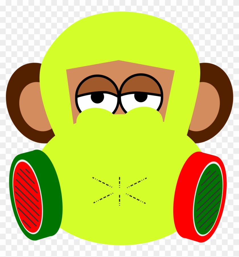 Related Monkey Clipart Mask - Monkey Face Shower Curtain #17851