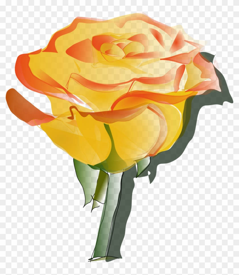Yellow Rose Clipart Transparent - Yellow Rose Tattoo Designs #17860