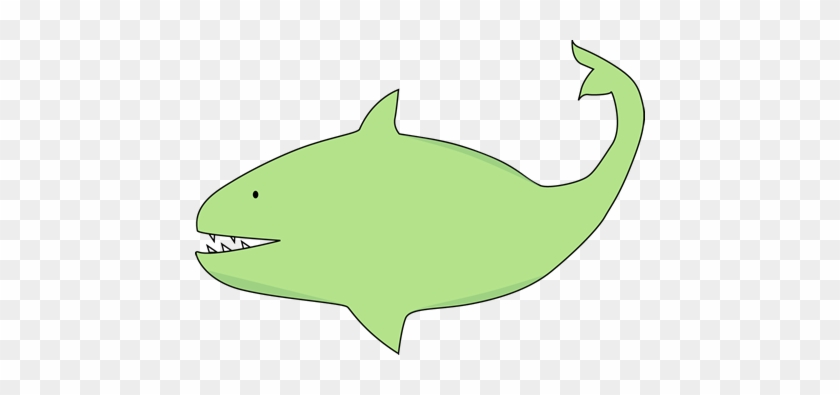 Green Shark - Green Shark Clipart #17861