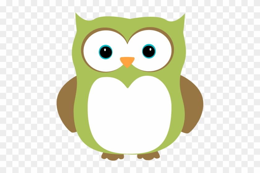 Green And Brown Owl - Owl Clip Art Green #17863