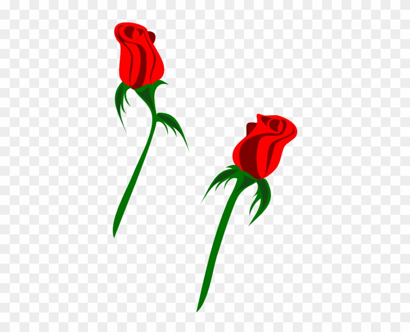 Single Red Rose Clip Art - Rose Bud Clip Art #17867