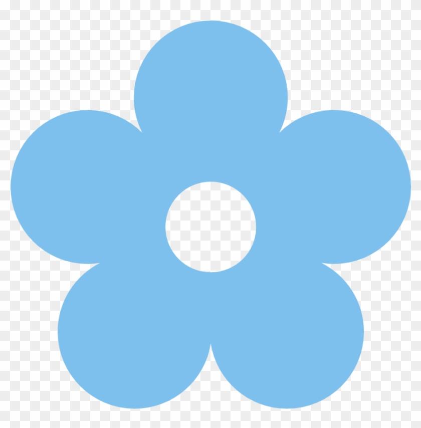 Blue Rose Clipart Light Blue - Light Blue Flower Clip Art #17882
