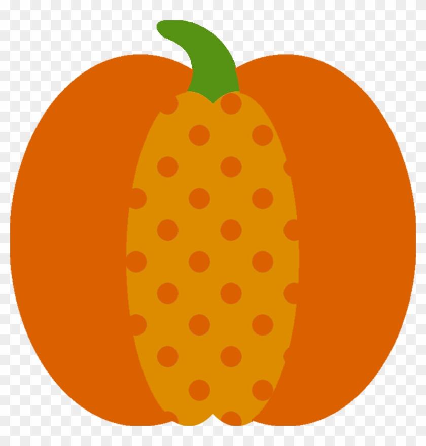 Clip Art - Polka Dot Pumpkin Clipart #17888