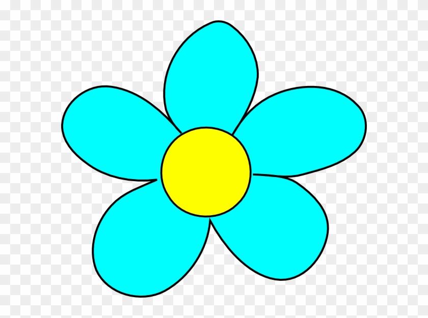 Rose Clipart Light Blue - Light Blue Cartoon Flowers #17896