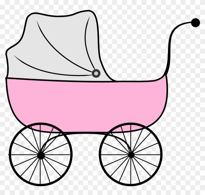 Baby Girl Free Girl Baby Shower Clip Art Free Vector - Baby Stroller Clipart Transparent #17916
