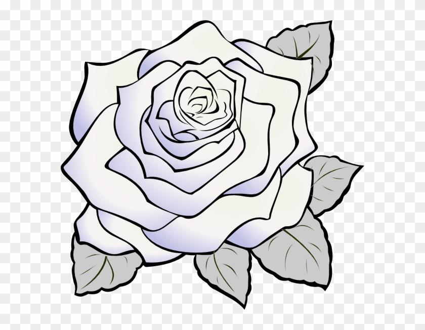 Rose Clip Art - White Rose Clip Art #17935
