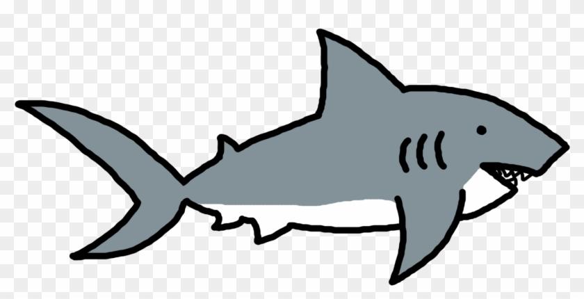 Shark Clip Art Black And White - Great White Shark #17939