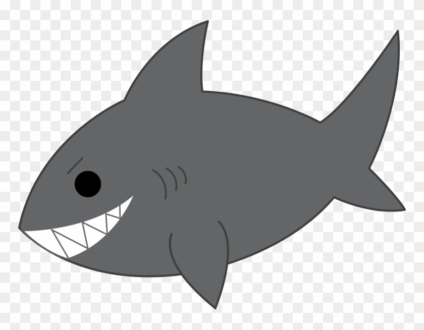 Shark Black And White Shark Clip Art Black And White - Clipart Of A Shark #17947