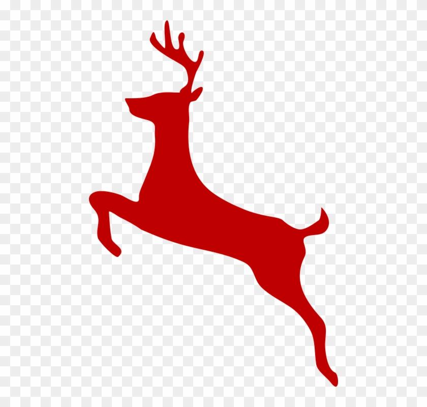 Red Reindeer Clip Art - Deer Clip Art #17987