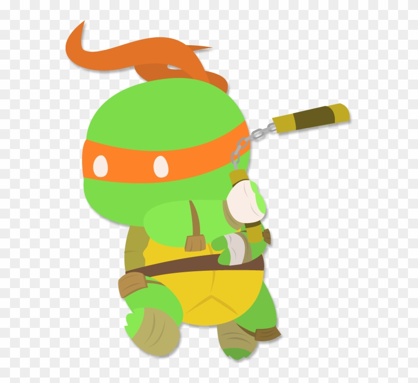 Mikey By Robo-shark - Mikey Tmnt Transparent #17996