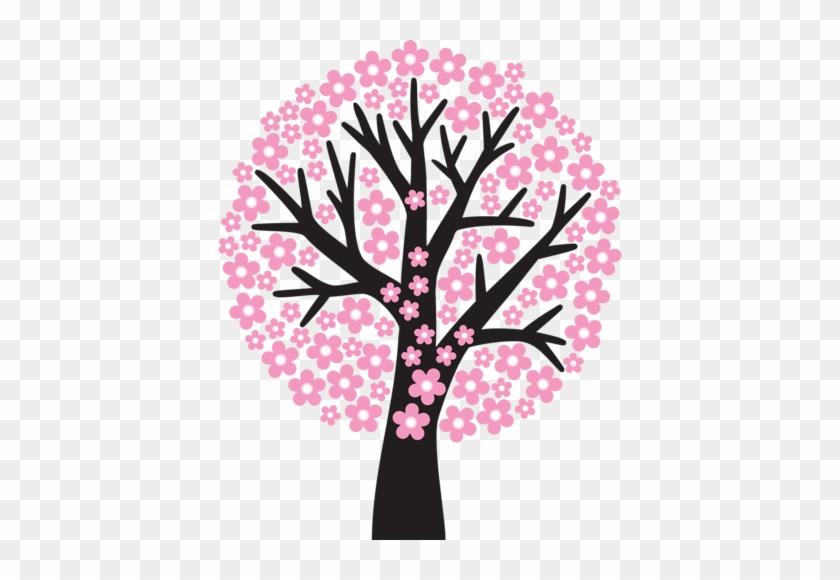 Flower Tree Clipart - Arbre Des Saisons Maternell #18035