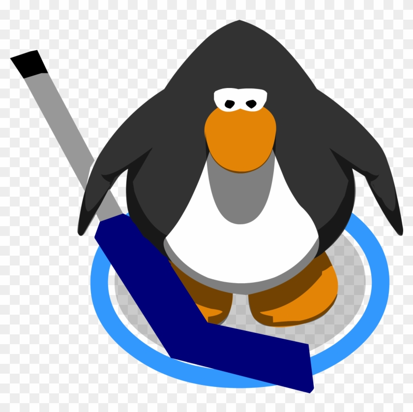 Goalie Hockey Stick In Game - Club Penguin 10th Anniversary Hat #76938