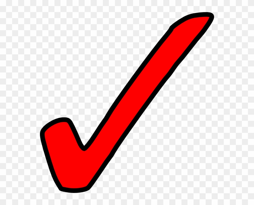 Clip Art Tick - Red Check Mark Png #76975