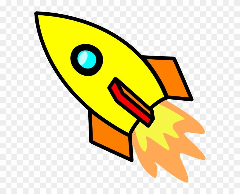 Rocket Shooting Star Clipart - Rocket Ship Cut Out #77084