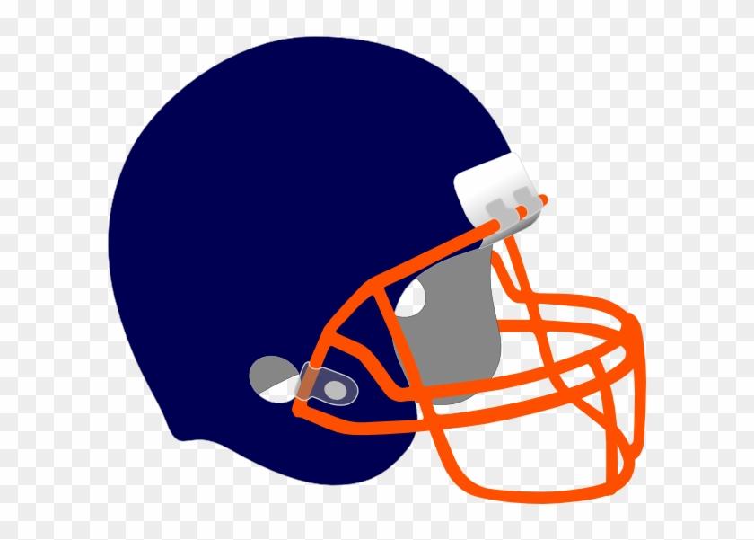 Blue And Orange Football Helmets #77099