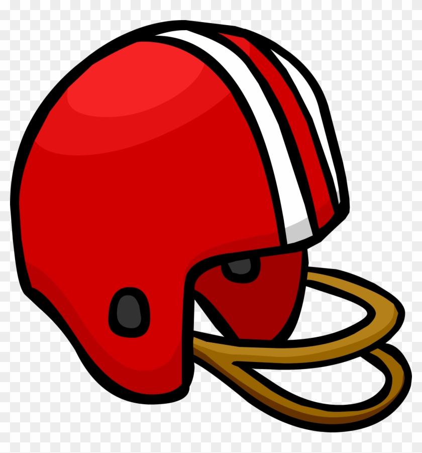 Red Football Helmet - Football Helmet #77125