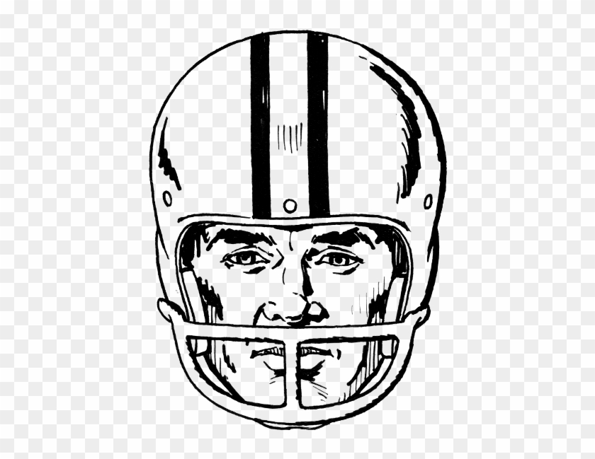 Clip - Art - Football - Helmet - Draw A Football Helmet #77198