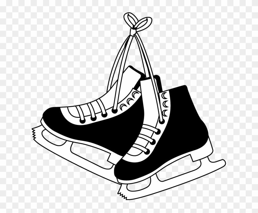 Ice - Hockey Skates Clipart #77221