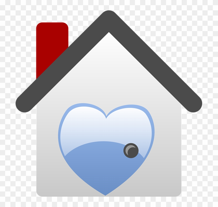 Real House, Home, Icon, Heart, Love, Houses, Estate, - House Clip Art #77301