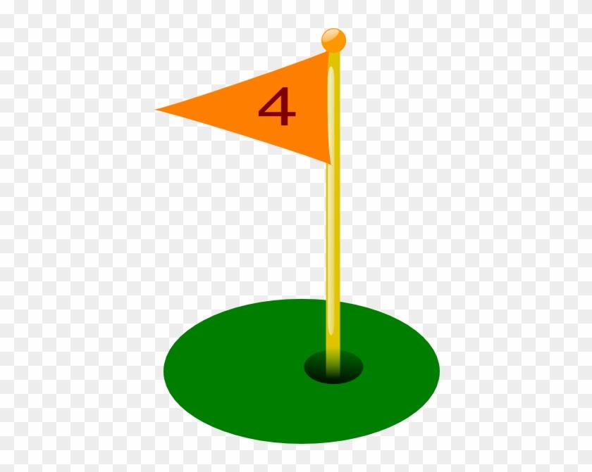 Golf Flag Clip Art - Golf Flag Hole 4 #77420