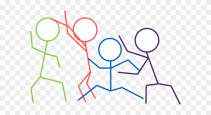 Stick Figures Clip Art - Stick Figures Playing Tag #77805