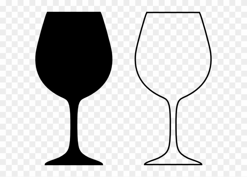 Wine Glass Silhouette - Wine Glass Clip Art Black White #78062