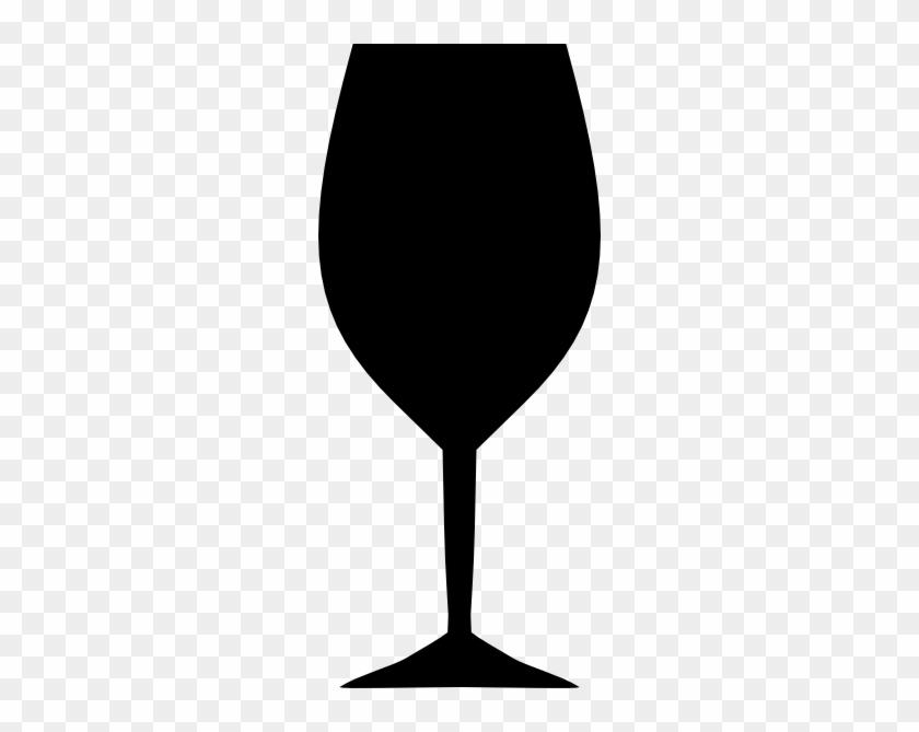 Black Clipart Wine Glass - White Wine Glass Clip Art #78077