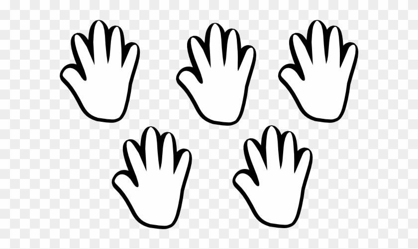 Child Handprint Black White 5 Clip Art