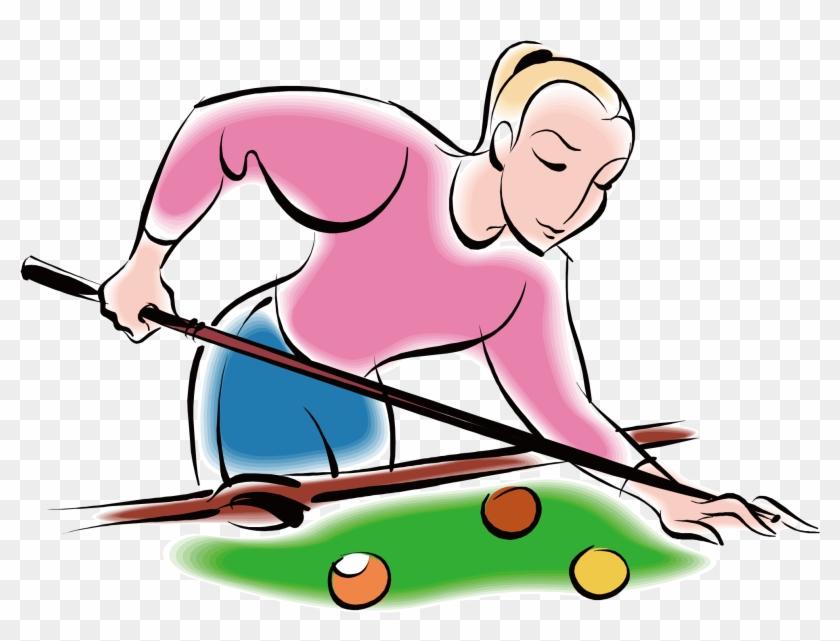 Euclidean Vector Billiards Table Tennis - Snooker Cartoon #78103