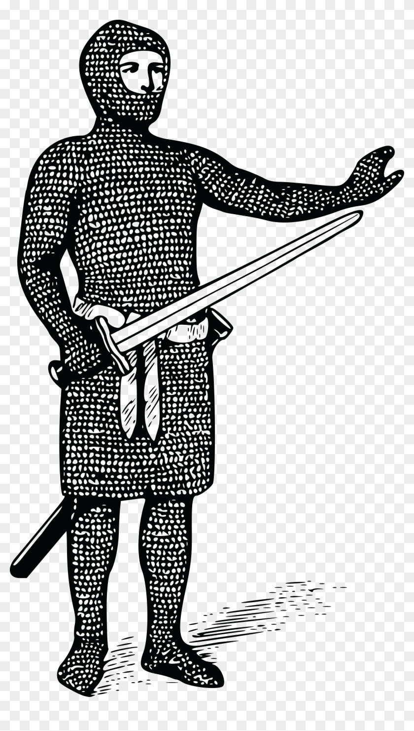 Free Clipart Of A Guard In Chain Maile - Mail Coat #78174