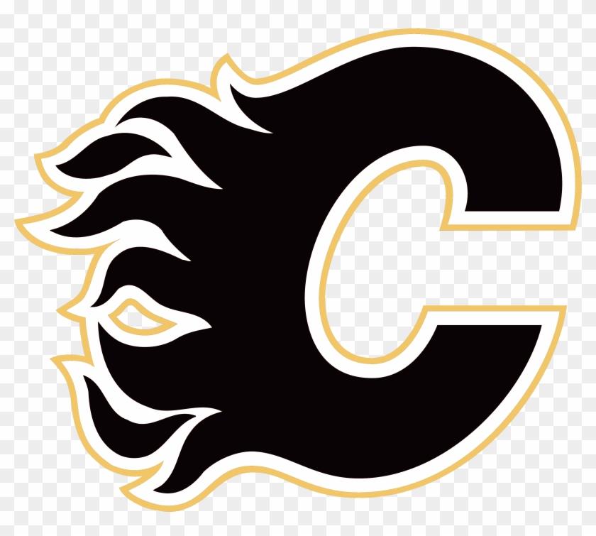 Calgary Flames Logo, Black - Calgary Flames Logo Vector #78230