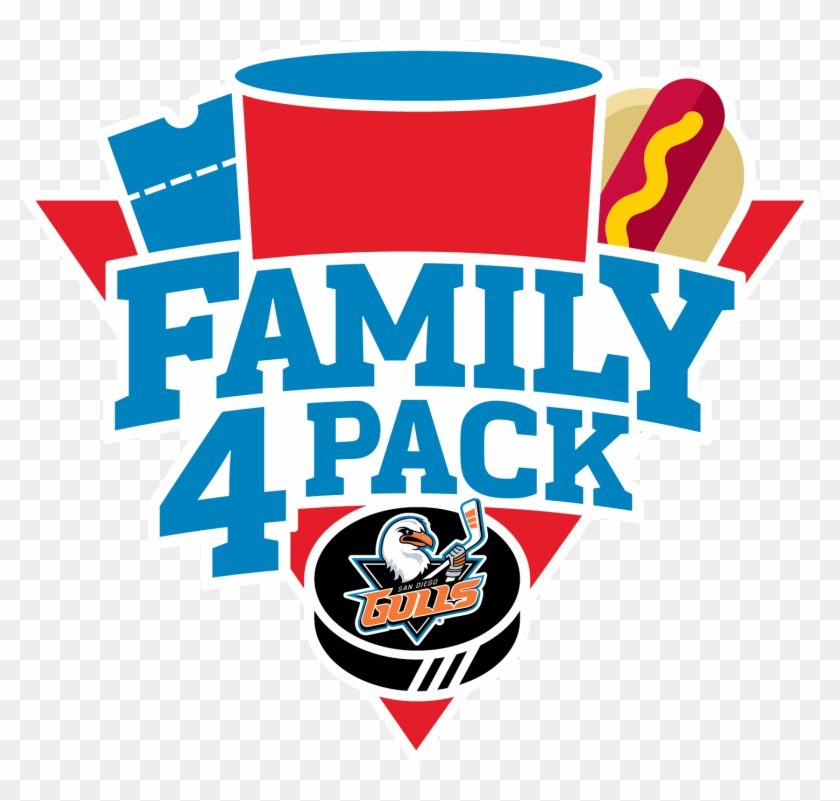The San Diego Gulls Family Four Pack Is A Great Way - Family Pack Logo #78275