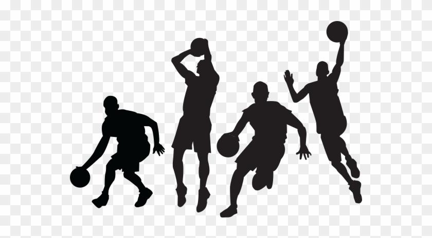 Basketball Jump Shot Sport Clip Art - Basketball Player Silhouette Vector #78303