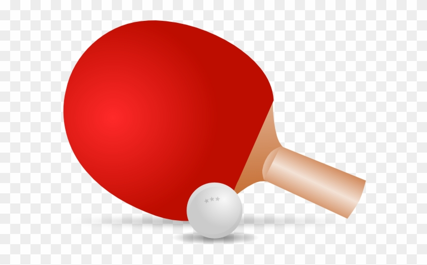 Ping Pong Clip Art - Table Tennis Bat Vector #78305