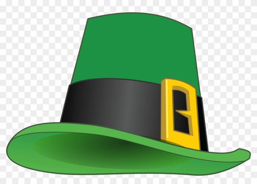 Free Clipart Of A St Patricks Day Leprechaun Hat - St. Patrick's Day Greeting Card #78709