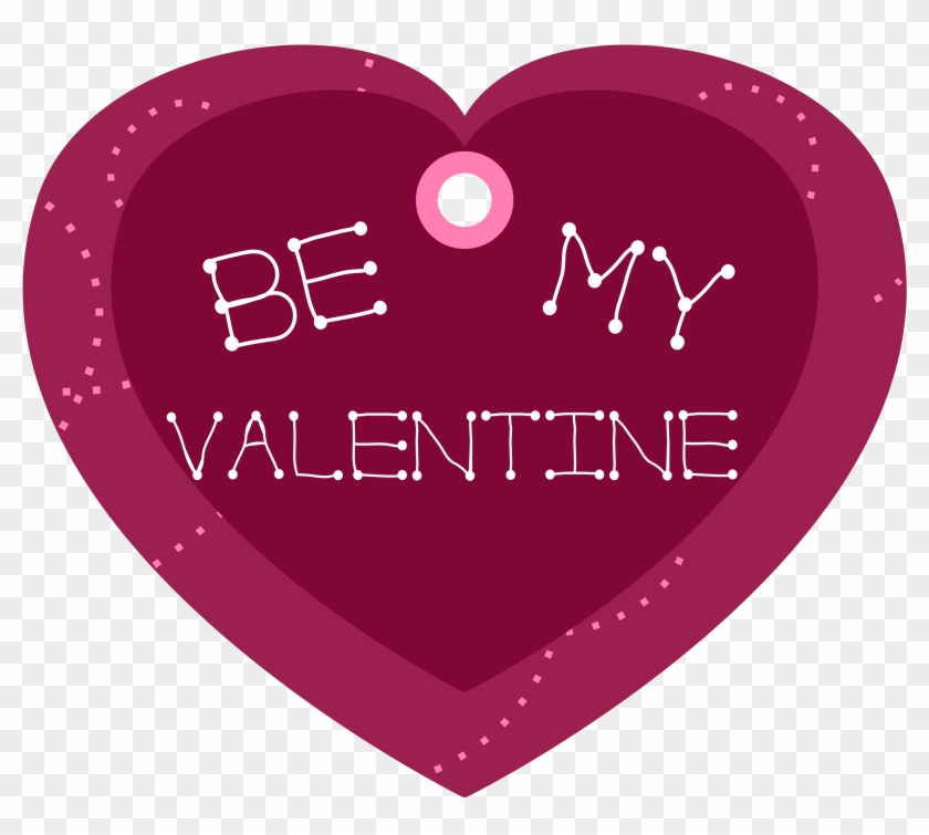 Free Vector Be My Valentine Heart Shaped Gift Tag Clip - My Valentine Heart #78746