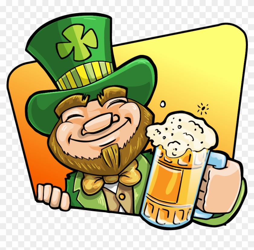 Free Leprechaun Holding A Mug Of Beer Clip Art - St Patrick's Day Clip Art Beer #78768