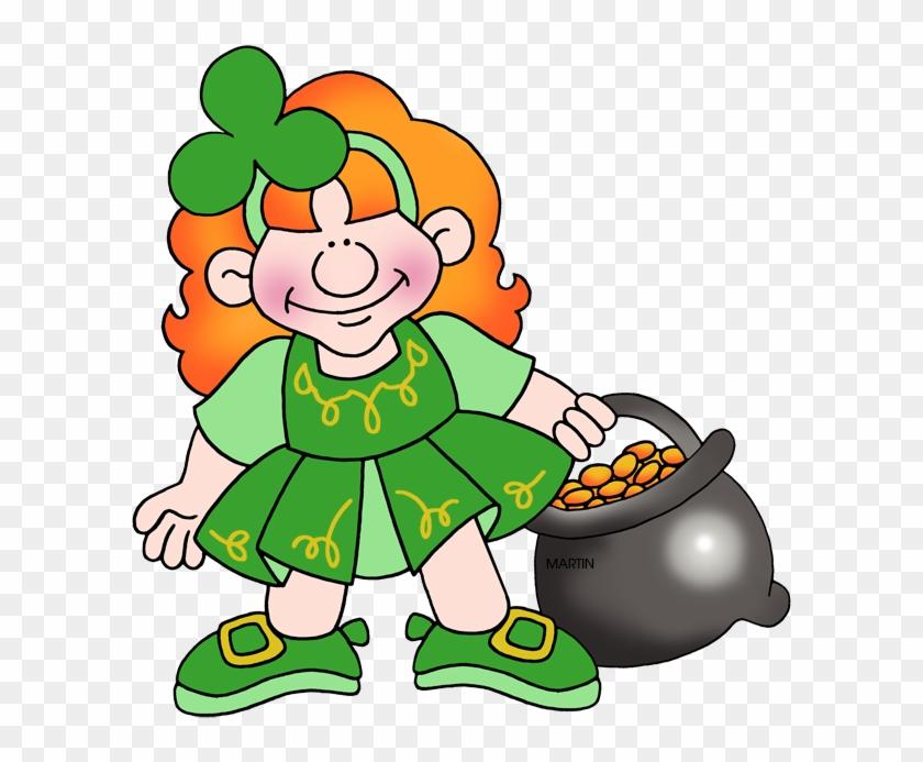 Gold 'n Girl - Leprechaun Girl Free Clipart #78793