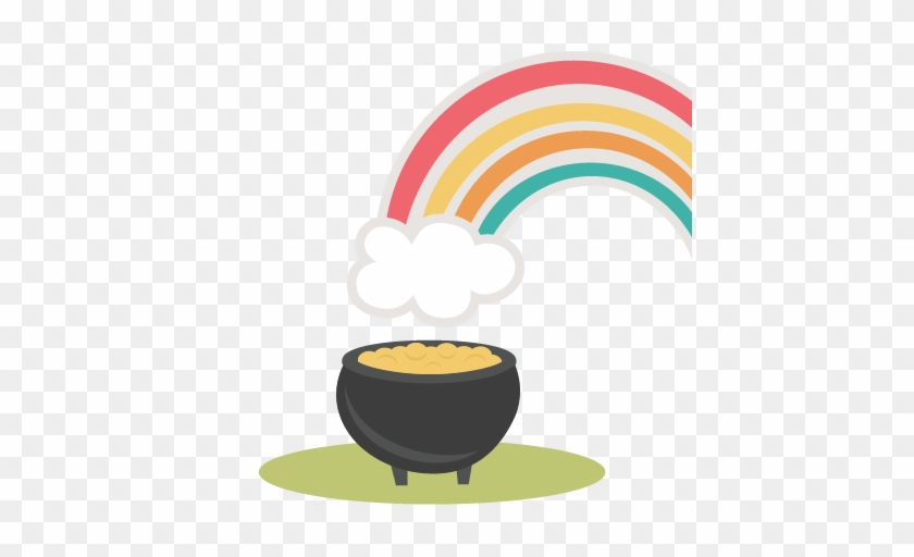 Rainbow With Pot Of Gold Svg Cutting File St Cute Pot Of Gold