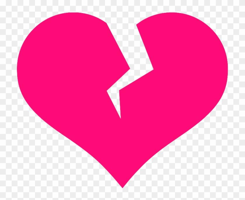 Broken Heart Clip Art - Broken Heart Vector Png #79132