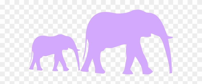 Purple Baby Shower Elephant Mom And Baby Clip Art - Elephant Clip Art #79249