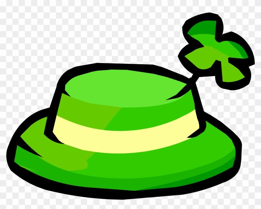 The Free Item Was The Shamrock Hat - Club Penguin Shamrock Hat #79354