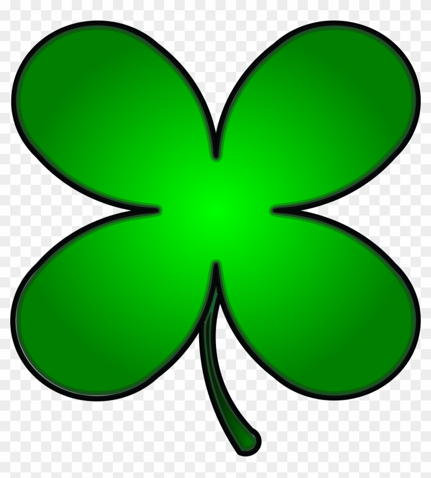 Free Clipart Of A Gradient Green St Paddys Day Shamrock - Shamrock #79380