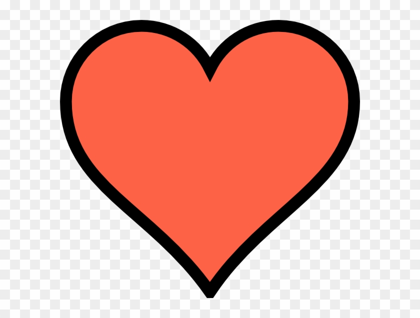 Coral Heart Clip Art At Clker - Coral Heart Clipart #79402