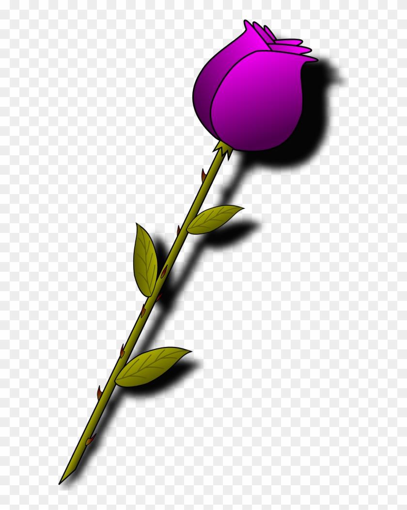 Red Rose Cartoon - Beautiful Good Morning Images Hindi #79595