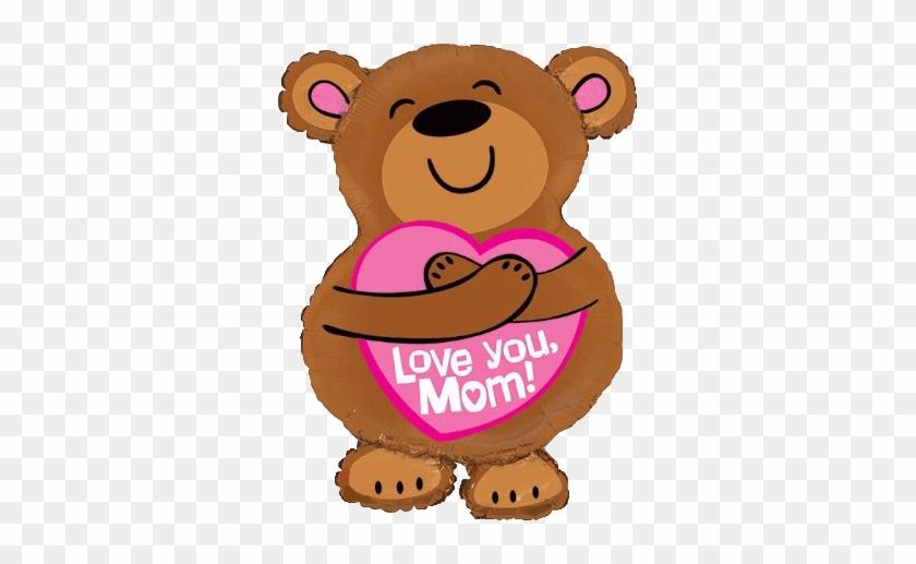 "28"" Love You Mom Bear Hug Balloon - Bear Mom Clip Art #79629"